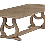 Glen Cove Dining Table With Trestle Barley Brown
