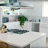 Their kitchen is bright and airy, with plenty of natural light.