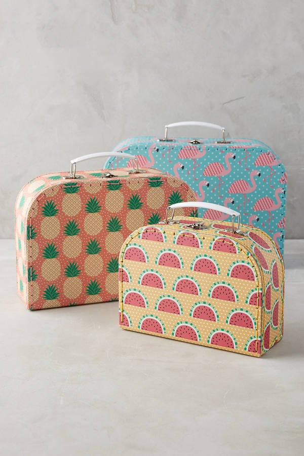 Tropical Suitcase Storage Set