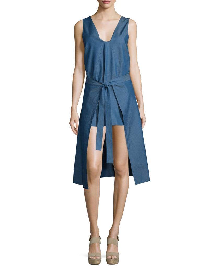 Cameo All Day Tie-Front Denim Dress, Denim ($180)