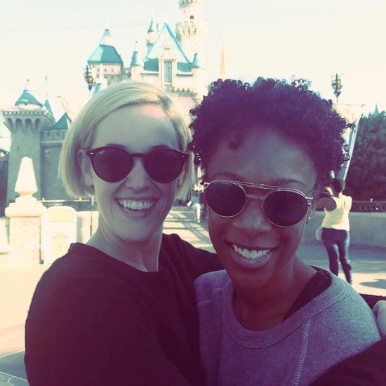 Samira Wiley and Lauren Morelli at Disneyland March 2017