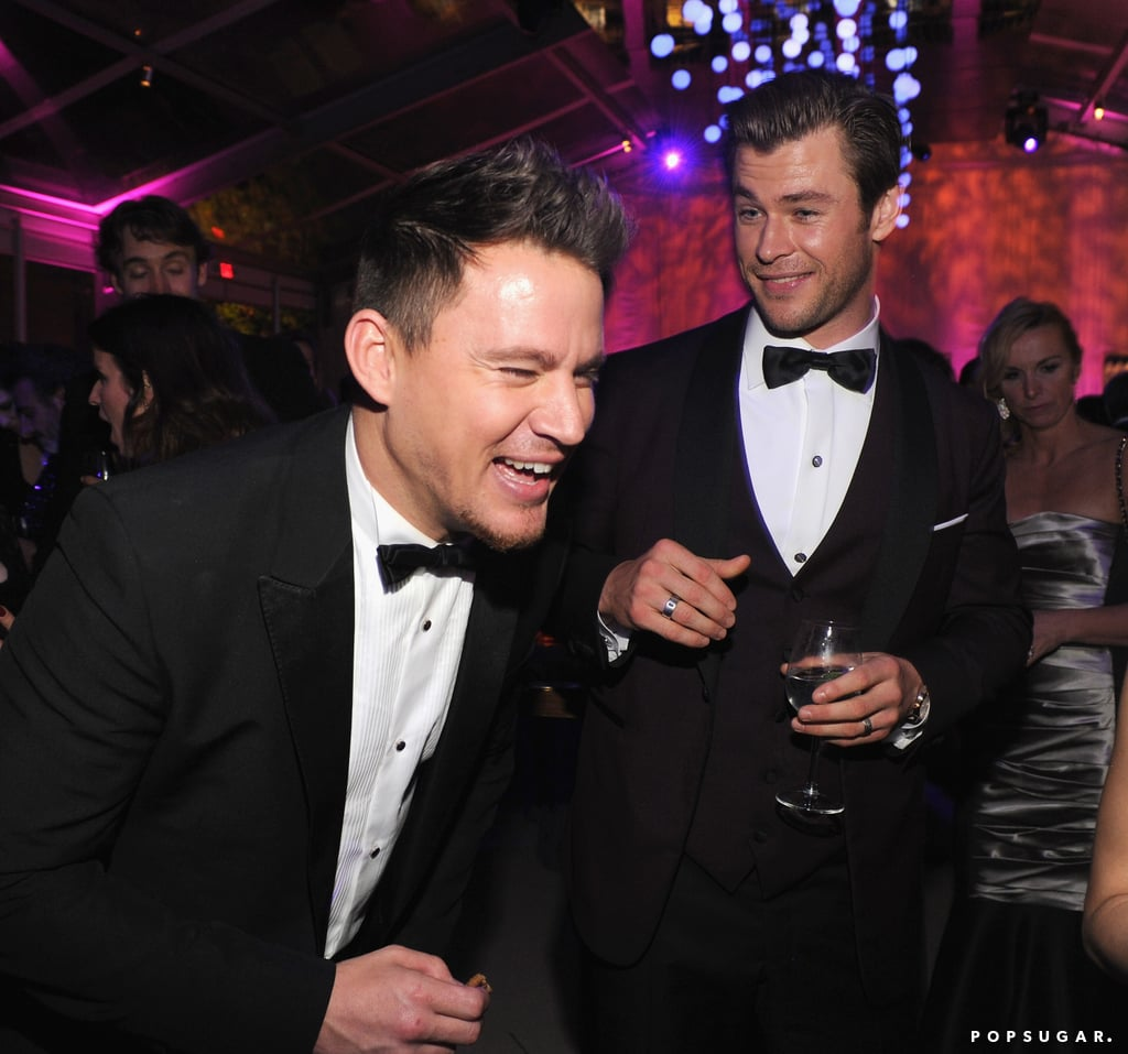 Channing Tatum was cracking up while mingling with Chris Hemsworth.