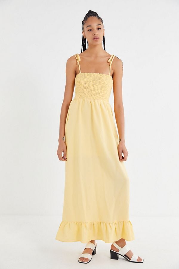 79f9bab31c6 Lucca Couture Kimberly Smocked Tie-Shoulder Maxi Dress