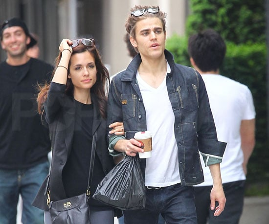 Slide Picture of Paul Wesley and Girlfriend Torrey DeVitto in New York