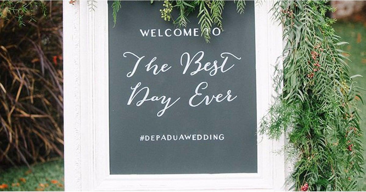 wedding hashtag generator popsugar tech