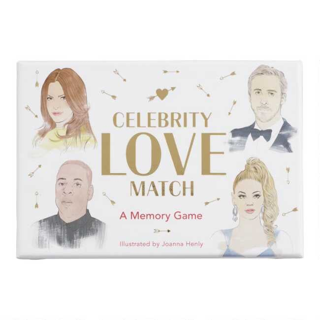 Celebrity Love Match Card Game