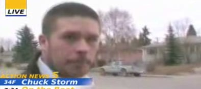 Reporter Delivers Hard-Hitting News