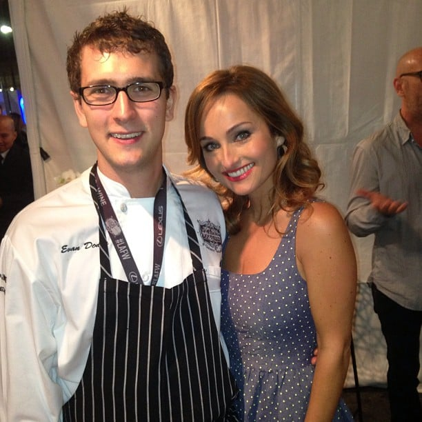Michael Chiarello took this photo of Bottega sous chef Evan Dodge hanging with Giada De Laurentiis.  Source: Instagram user chefchiarello