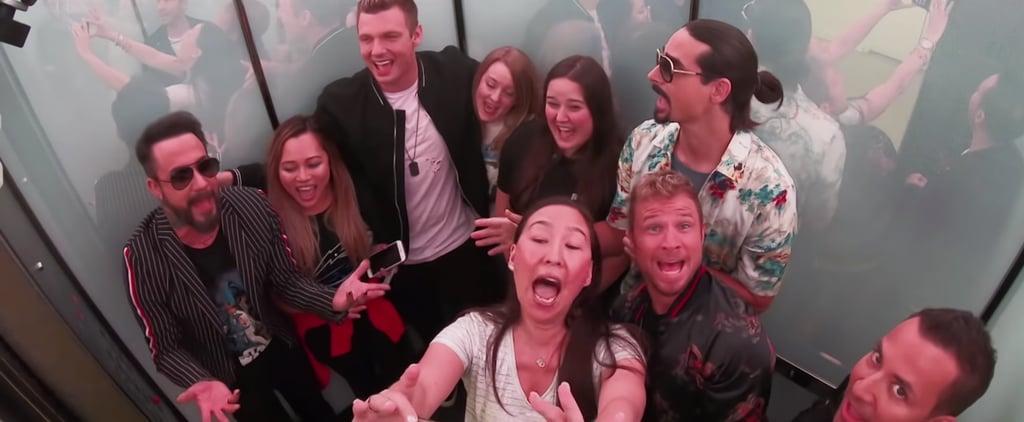 Backstreet Boys Surprise Fans in an Elevator Video