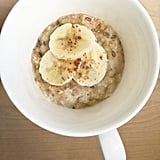 Microwaveable Peanut Butter and Banana Oatmeal