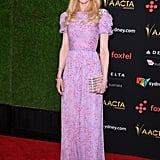 Nicole Kidman Wearing Purple Gown