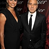 George Clooney Has Date Stacy Keibler by His Side in Palm Springs