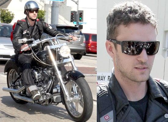 Justin Timberlake On His Bike