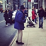 We spotted Bill Cunningham again, this time while doing some holiday shopping at Barneys New York.