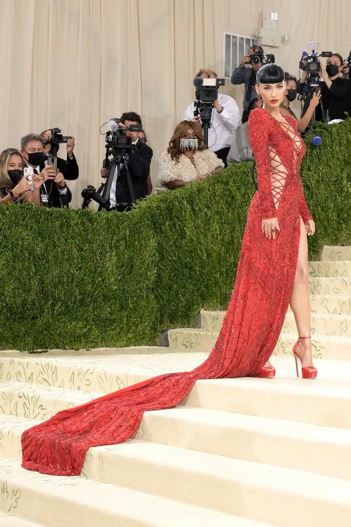 Megan Fox's Red Dundas Dress at the 2021 Met Gala