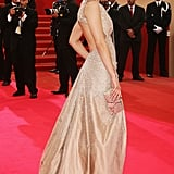 Marion Cotillard wore a soft, gold gown with a cutout back to the Cannes premiere of We Own the Night in 2007.