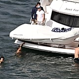 One Direction spent a day swimming in Australia.