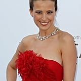 Petra Nemcova wore red to the amfAR Cinema Against AIDS gala.