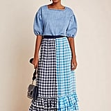 Gigi Ruffled Gingham Maxi Skirt