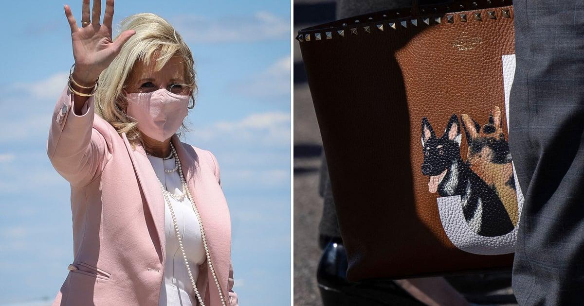 Jill Biden's Custom Valentino Purse Features Hand-Painted Portraits of Her German Shepherds.jpg