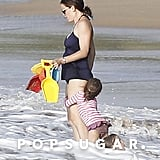 Jennifer Garner wore a swimsuit in Puerto Rico.