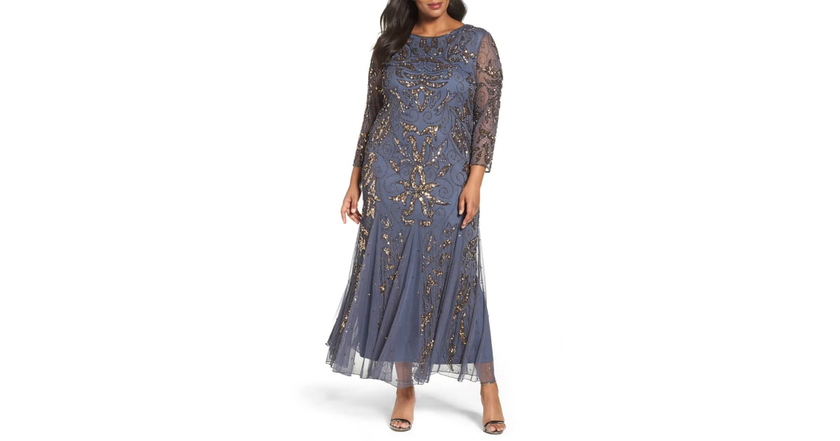 Pisarro Nights Embellished Gown Best Plus Size Bridesmaid Dresses