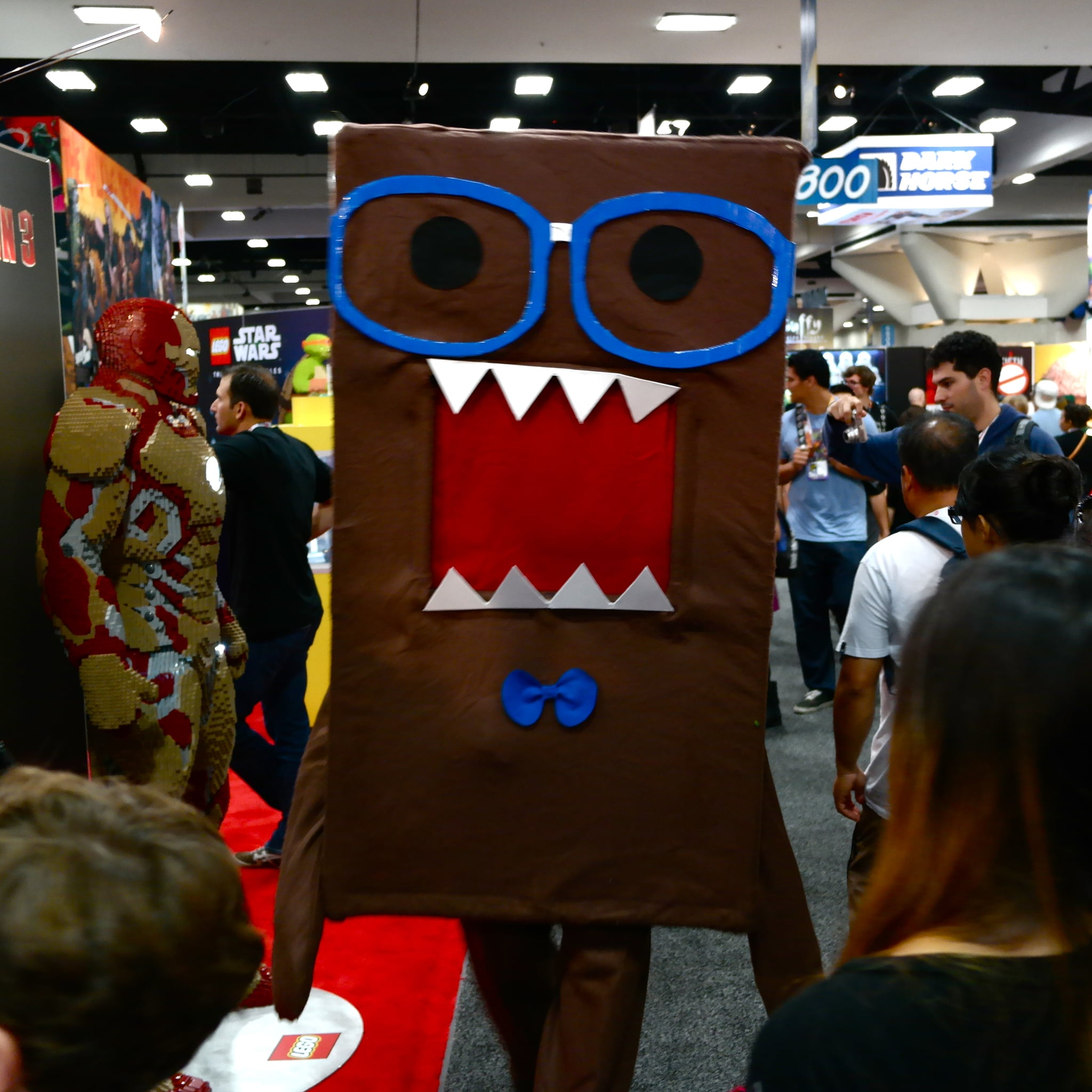 An eye-catching Domo cleared paths on the exhibition floor.
