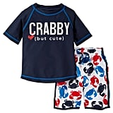 Crab Rash Guard Swimsuit Set