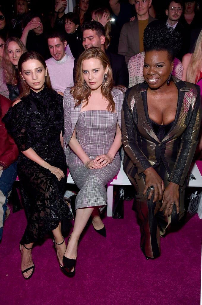 Angela Sarafyan, Alicia Silverstone, and Leslie Jones at the Christian Siriano Fall 2020 Show