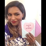 Mindy Kaling showed off a hilarious Valentine's Day card.