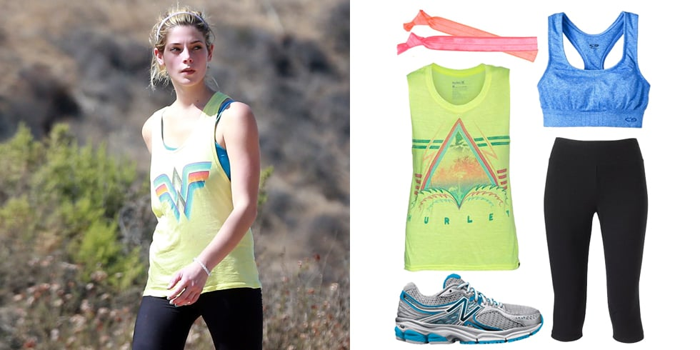 Ashley Greene Hiking Outfit