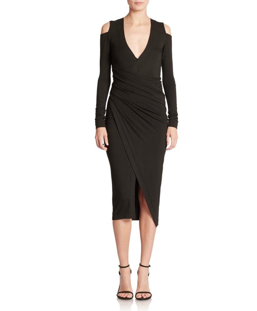 Donna Karan Cold-Shoulder Draped Dress ($1,895)