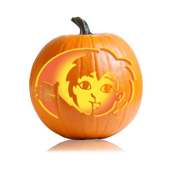 Diego cartoon character pumpkin carving ideas for kids