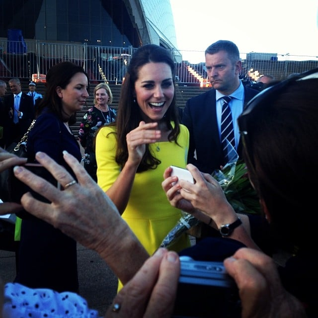 Australian fans went crazy for Kate when she stopped by Sydney. Source: Instagram user lachlan_selby1