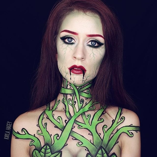 poison ivy halloween body paint costumes popsugar beauty photo 18