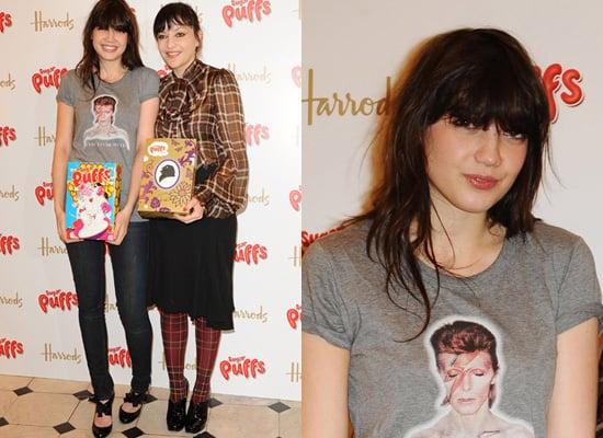 Daisy Lowe, David Bowie t-shirt, Celebrity Style, D&G