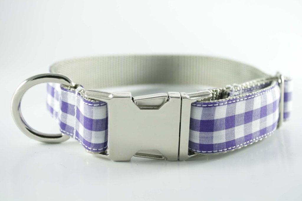 Royal Purple Gingham Collar