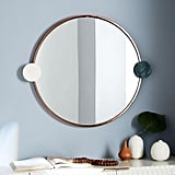West Elm Graphic Dot Stone Round Mirror, $449