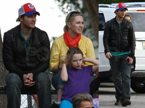 Photos of Peter Facinelli and Jennie Garth Watching a Soccer Game in LA