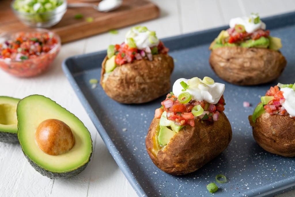 Baked Potato With Salsa Fresca and Avocado