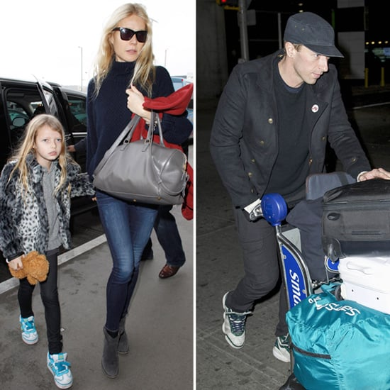 Gwyneth, Chris Martin, Apple & Moses in NYC For Christmas
