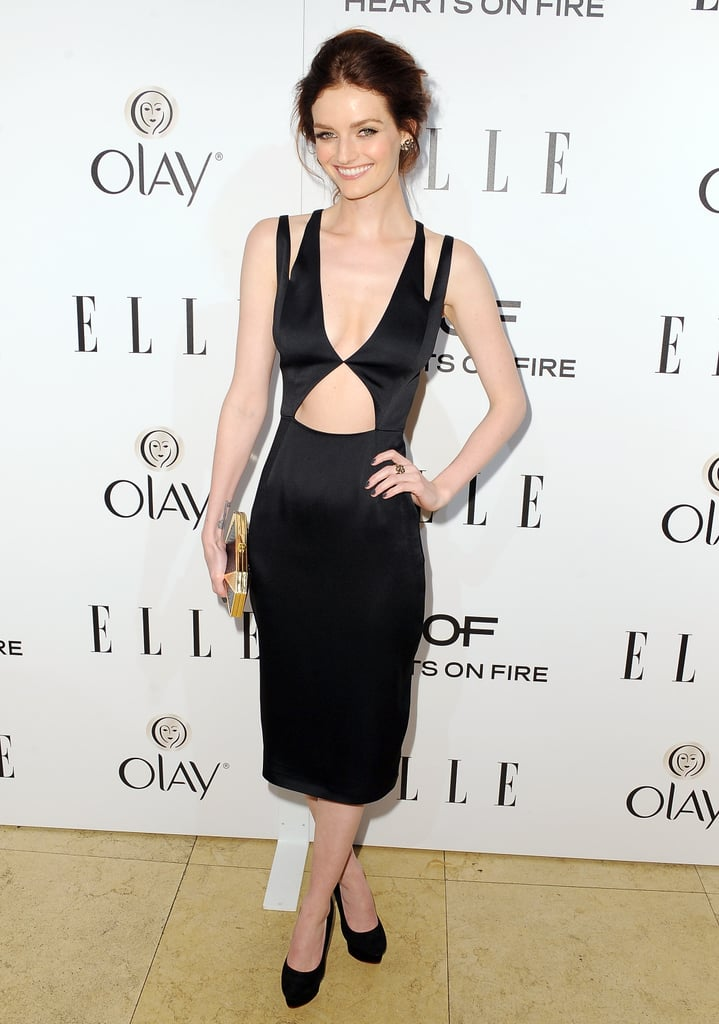 Lydia Hearst at Elle's Women in Television Celebration.