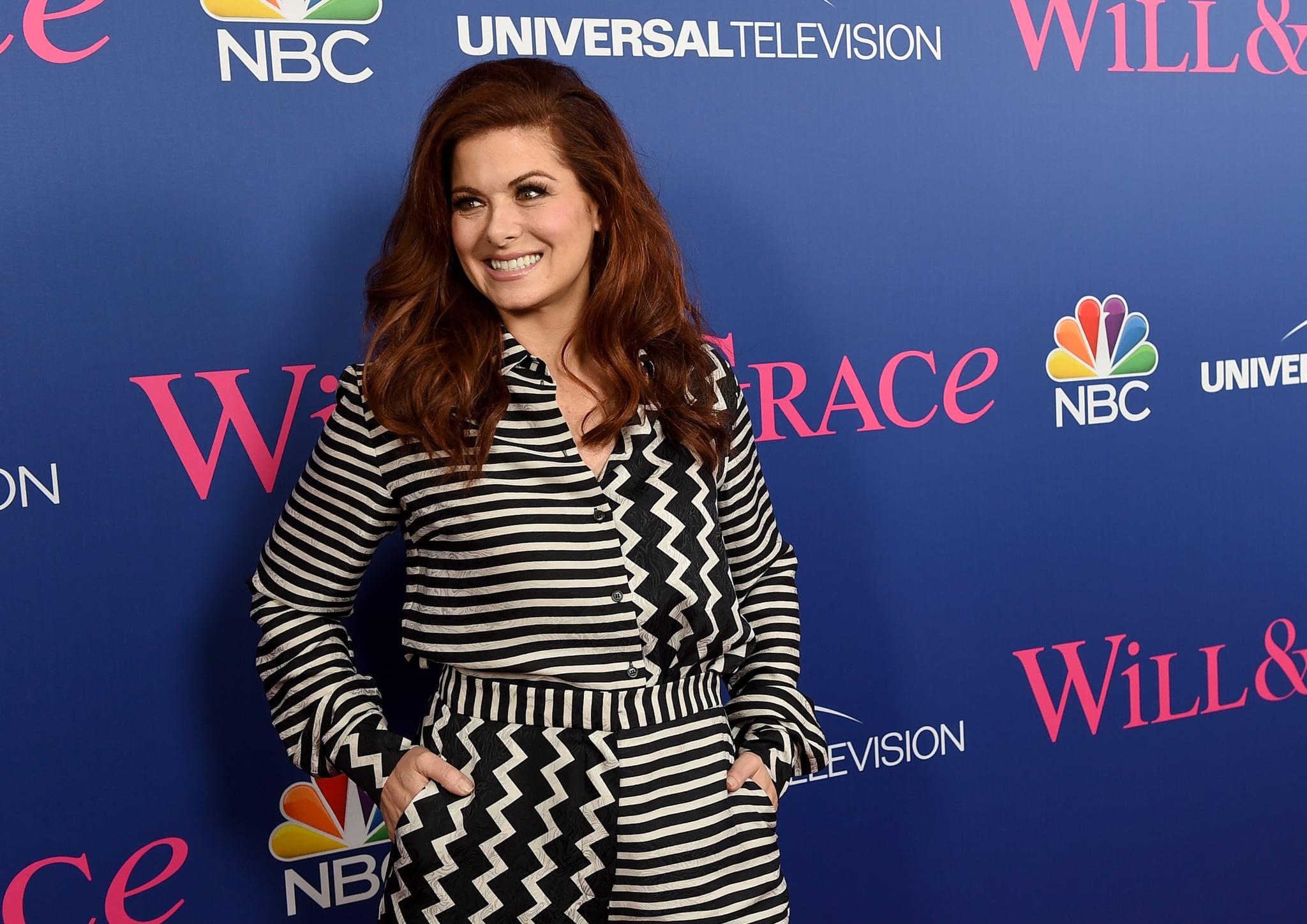 LOS ANGELES, CA - JUNE 09:  Actress Debra Messing arrives at NBC's