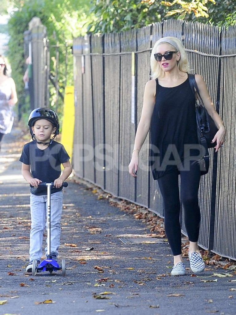 Gwen Stefani talked to her son, Kingston.