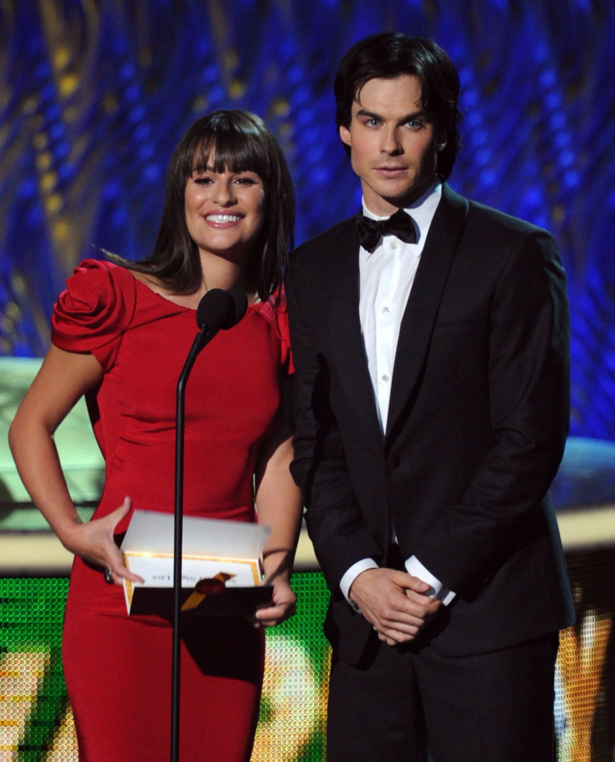 Lea Michele and Ian Somerhalder were presenters at the 2011 Emmy Awards.