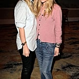 Denim-clad queens at the launch of their jeans label TEXTILE by Elizabeth and James.