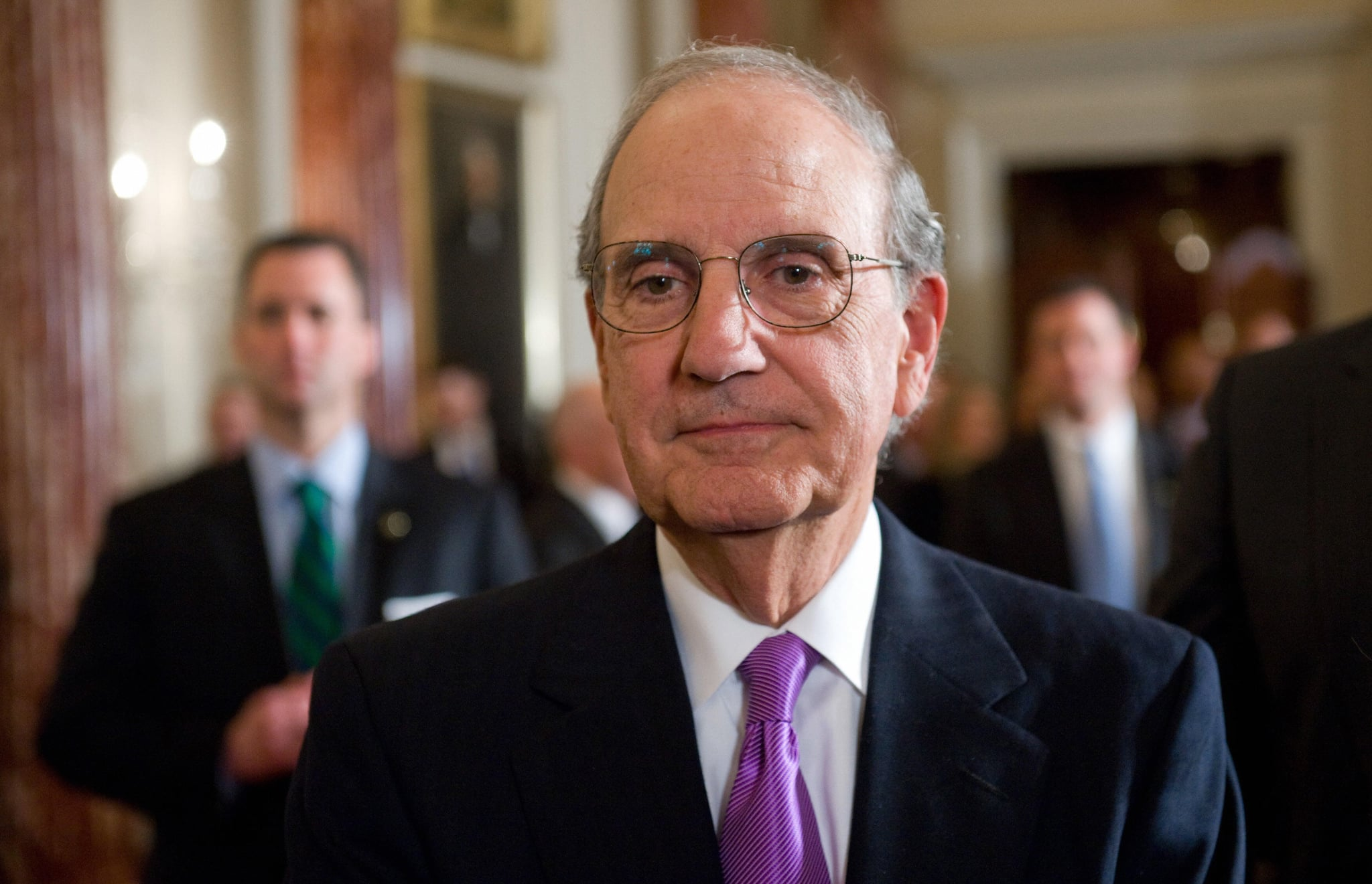 President Barack Obama's newly named Special Envoy to the Middle East at the State Department yesterday.