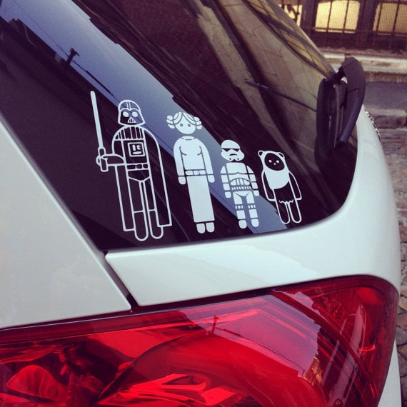 Star Wars Family Car Decals Tech Gifts Under POPSUGAR Tech - Star wars family car decals