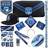 NRL State of Origin NSW Showbag ($25) Includes:  Beanie  Stationery Set  Football