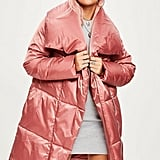 Missguided Pink Waterfall Puffer Jacket
